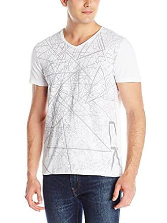 4f2b74344 Calvin Klein Mens Performance Short Sleeve Triangle Pattern Tee