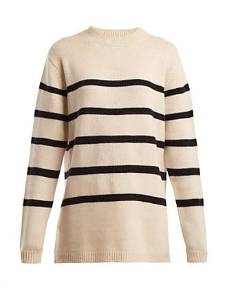 e54d41316 Split Side Roll Neck Cashmere Sweater - Womens - Grey. Delivery  free. Raey  Loose Fit Breton Cashmere Sweater - Womens - Navy Stripe