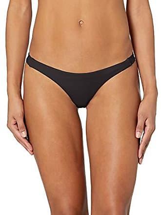 Rvca Juniors Solid Skimpy Bikini Bottom, Black, L