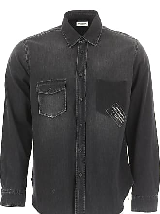 a5be739067c1 Saint Laurent Camicia Uomo On Sale, Grigio Nero, Cotone, 2017, S XL