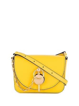 J.W.Anderson Bolsa pochete com detalhe de corrente - Amarelo