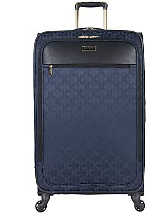 Kenneth Cole Reaction Kenneth Cole Reaction KC-Street 28 Lightweight Softside Jacquard Expandable 4-Wheel Spinner Checked Suitcase, Navy