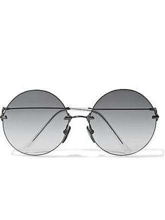 Christopher Kane Christopher Kane Woman Round-frame Gunmetal-tone Sunglasses Dark Gray Size