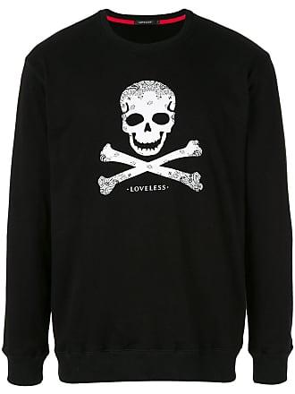 Loveless Blusa de moletom Skull and Crossbones - Preto