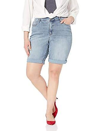 cac406cf22 NYDJ Womens Plus Size Briella ROLL Cuff Jean Short in Cool Embrace Denim,  CANO,