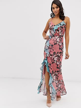 63856a71 Forever Unique wrap front cami maxi dress with ruffle detail in floral print