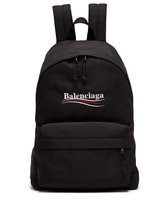 b787e4c42de2b7 Balenciaga Explorer Logo Embroidered Coated Canvas Backpack - Mens - Black