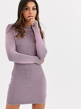 Missguided knitted dress in lilac-Purple