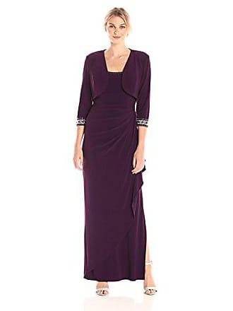 Alex Evenings Womens Empire Waist Bolero Jacket Dress (Petite and Regular Sizes), Eggplant 18