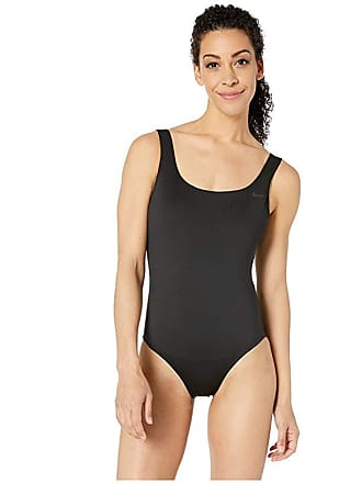 a9797365a70647 Nike Solid U-Back One-Piece (Black) Womens Swimsuits One Piece