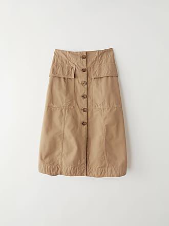 Acne Studios FN-WN-SKIR000053 Sand beige Button skirt