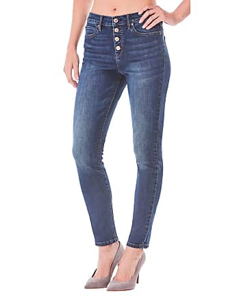 89d7146f35 Nicole Miller High-Rise Skinny Jeans with Exposed Button Fly
