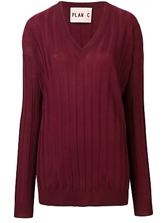 Plan C long-sleeve fitted sweater - Vermelho