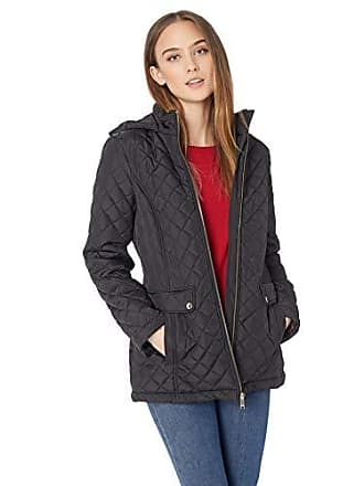 464cee8cac4 Tommy Hilfiger Womens Diamond Quilted Jacket with Covered Placket and Hood