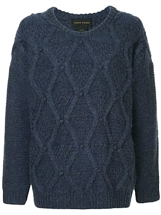 Karen Walker Suéter oversized de tricô - Azul