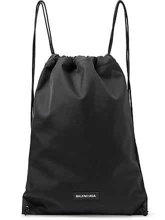 Balenciaga Explorer Canvas Drawstring Backpack - Black