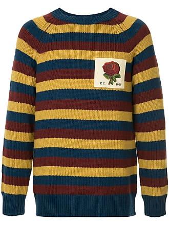 Kent & Curwen striped rose patch jumper - Multicolour