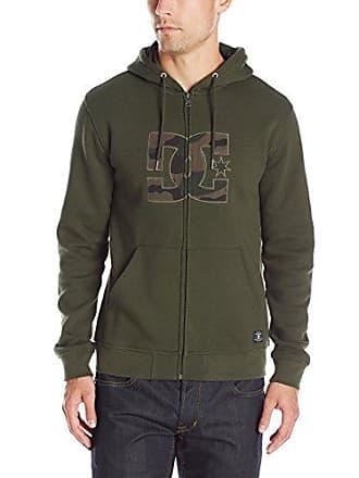 DC Mens Hook up Hoodie Sweatshirt, Dark Olive, Small