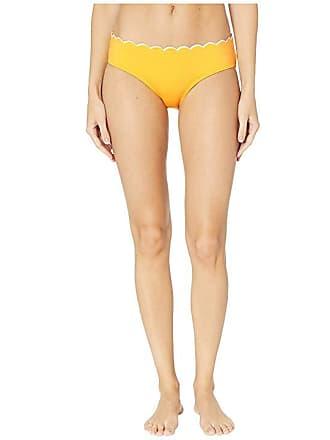 a2b69da274 Kate Spade New York Fort Tilden Contrast Scalloped Hipster Bikini Bottoms  (Limone) Womens Swimwear
