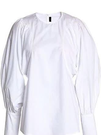 Joseph Joseph Woman Gathered Cotton-poplin Tunic White Size 38