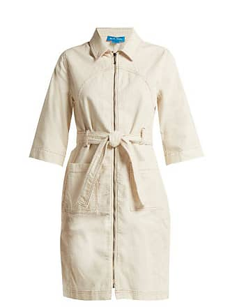 Mih Jeans Callow Corduroy Dress - Womens - Ivory