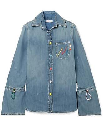 Mira Mikati Embroidered Denim Shirt - Indigo