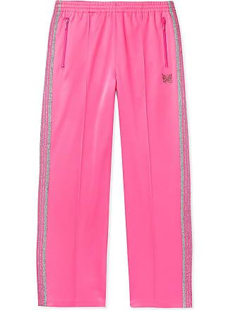 e6a2f19947c442 Needles Glittered Webbing-trimmed Tech-jersey Track Pants - Pink
