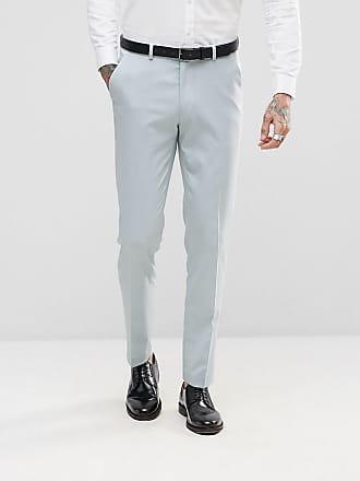 Asos Pantalones de traje ajustados estilo esmoquin en azul hielo de ASOS  Wedding fd59305d950f