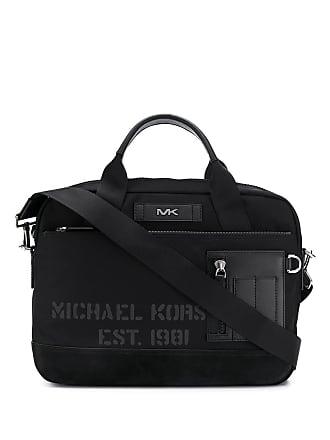 b2101a9cd9 Michael Kors Bolsa para notebook com acabamento de couro - Preto