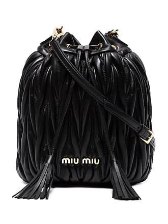 924190b30 Miu Miu Bolsa mini de couro com matelassê - Preto