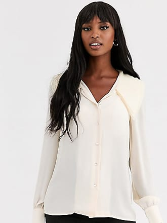 Y.A.S. Tall Arilla long sleeve large collar blouse-White