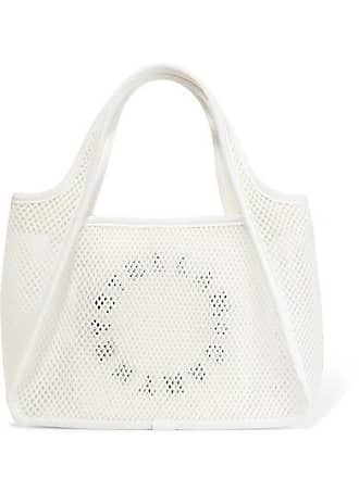 Stella McCartney Printed Canvas And Mesh Tote - White