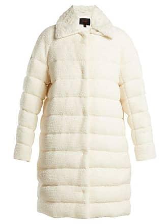 Giambattista Valli Detachable Collar Bouclé Coat - Womens - White