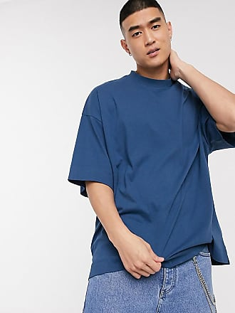 Collusion Oversize-T-Shirt in Blau-Navy