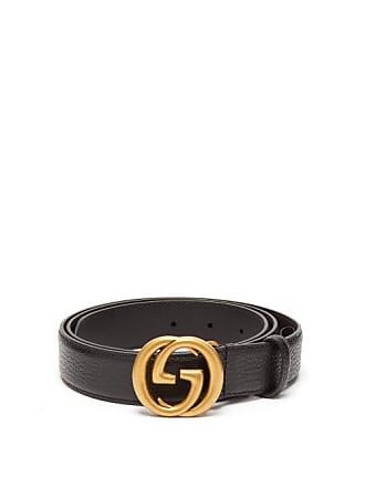 cf9e845aa Gucci Gg Grained Leather Black Belt - Mens - Black