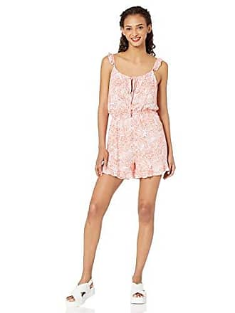 46c402a8c44 cupcakes and cashmere Womens Monarch Printed Romper with Ruffle Details