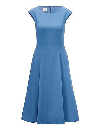 ec217a2f73cc86 Madeleine Ärmelloses Kleid mit schwingendem Rockteil Damen irisblau / blau