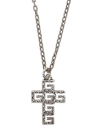 47b6458ff Gucci G Cross Sterling Silver Necklace - Mens - Silver