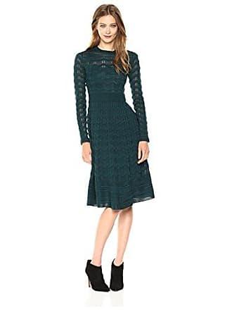 M Missoni Womens Solid Knit Dress, CP5 Emerald, EUR 38
