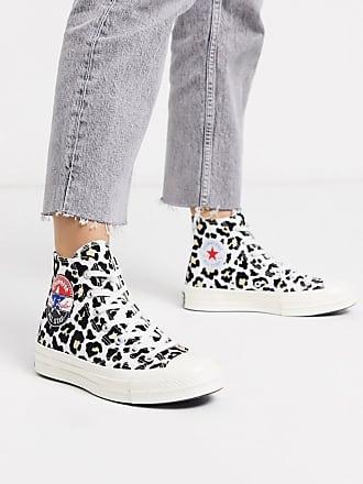 Converse Chuck 70 - Knöchelhohe Sneaker mit geflocktem Leopardenmuster-Mehrfarbig
