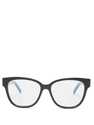 eed7911a6685 Saint Laurent Rectangle Frame Acetate Glasses - Womens - Black