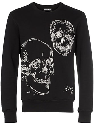 Alexander McQueen Embroidered Skull motif sweater - Black