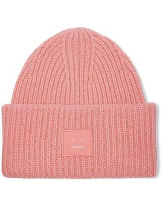 aa1e30fa5b5 Acne Studios Pansy Face Appliquéd Ribbed Wool Beanie - Pink