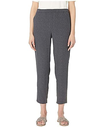 Eileen Fisher Morse Code Tencel Viscose Slouchy Ankle Pants (Graphite) Womens Casual Pants