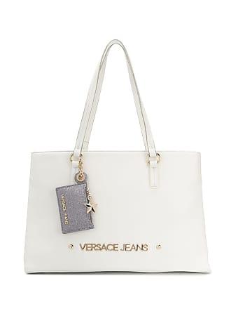 Versace Jeans Couture Bolsa tote com logo - Branco