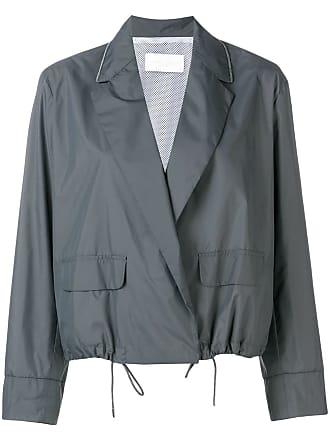 Fabiana Filippi blazer style parka jacket - Grey