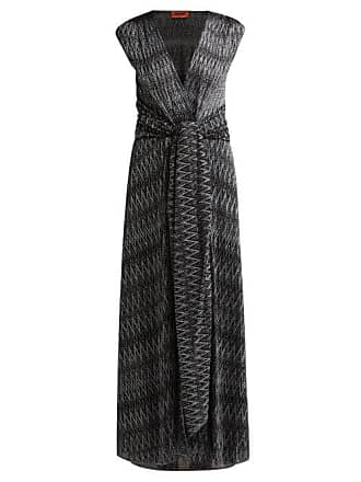 1c35c25bc5a1b Missoni Zigzag Knitted Wrap Front Dress - Womens - Black