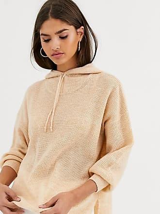 Micha Lounge Micha Lounge - Luxe - Felpa in maglia di misto lana con cappuccio e allacciatura-Cuoio