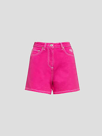 Msgm denim shorts color fuchsia
