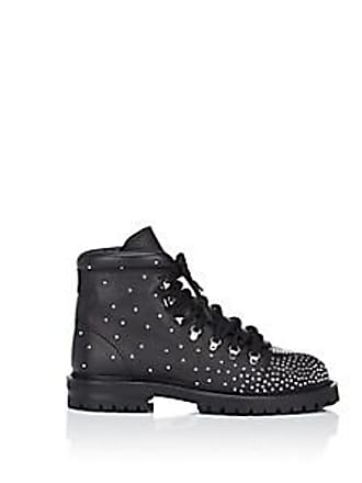 666ff15f051 Valentino Womens Rockstud Quilted Leather Combat Boots - Black Size 9.5